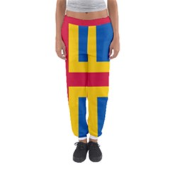 Flag Of Aland Women s Jogger Sweatpants by abbeyz71