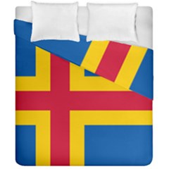 Flag Of Aland Duvet Cover Double Side (california King Size) by abbeyz71