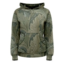 Vintage Background Green Leaves Women s Pullover Hoodie by Simbadda