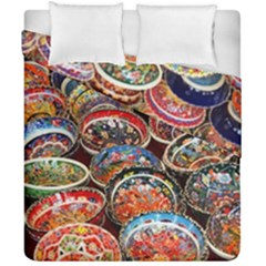 Art Background Bowl Ceramic Color Duvet Cover Double Side (california King Size) by Simbadda