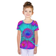 Retro Colorful Decoration Texture Kids  One Piece Tee by Simbadda
