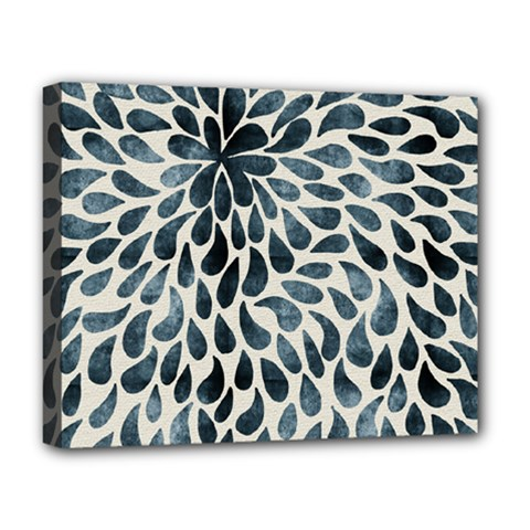 Abstract Flower Petals Floral Deluxe Canvas 20  X 16   by Simbadda