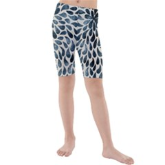 Abstract Flower Petals Floral Kids  Mid Length Swim Shorts