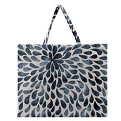 Abstract Flower Petals Floral Zipper Large Tote Bag by Simbadda