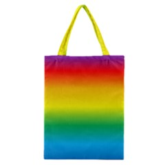 Rainbow Background Colourful Classic Tote Bag by Simbadda