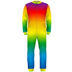 Rainbow Background Colourful OnePiece Jumpsuit (Men)  by Simbadda