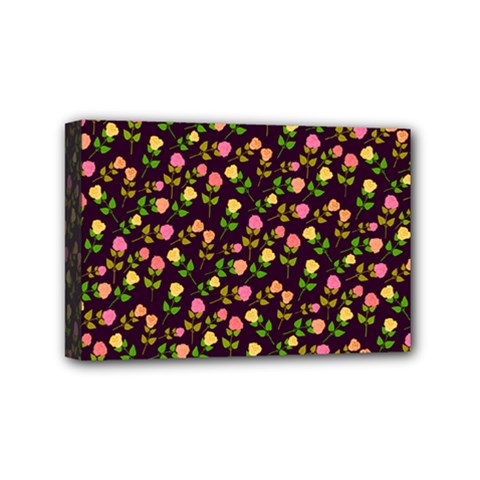Flowers Roses Floral Flowery Mini Canvas 6  X 4  by Simbadda
