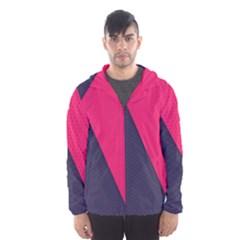 Pink Pattern Hooded Wind Breaker (men) by Simbadda