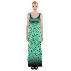 Grunge Rain Frame Maxi Thigh Split Dress by Simbadda