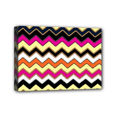 Colorful Chevron Pattern Stripes Pattern Mini Canvas 7  X 5