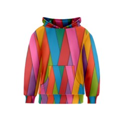 Colorful Lines Pattern Kids  Pullover Hoodie by Simbadda