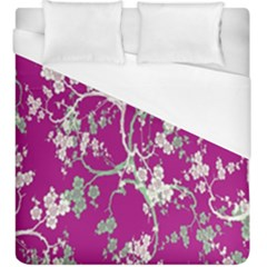 Floral Pattern Background Duvet Cover (King Size) by Simbadda