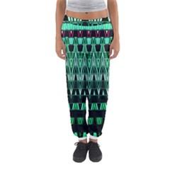 Green Triangle Patterns Women s Jogger Sweatpants by Simbadda