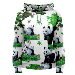 Cute Panda Cartoon Women s Pullover Hoodie by Simbadda