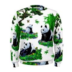 Cute Panda Cartoon Men s Sweatshirt by Simbadda