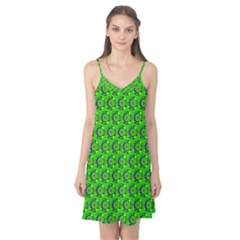 Green Abstract Art Circles Swirls Stars Camis Nightgown