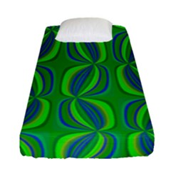 Blue Green Ethnic Print Pattern Fitted Sheet (single Size) by CrypticFragmentsColors