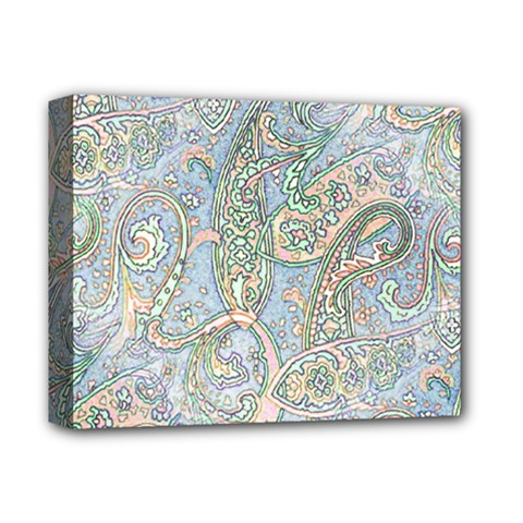 Paisley Boho Hippie Retro Fashion Print Pattern  Deluxe Canvas 14  X 11  by CrypticFragmentsColors