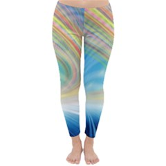 Glow Motion Lines Light Classic Winter Leggings by Alisyart