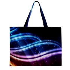 Illustrations Color Purple Blue Circle Space Zipper Mini Tote Bag by Alisyart