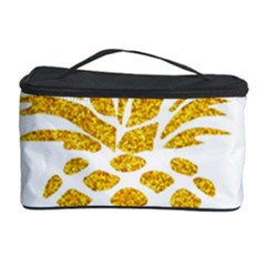 Pineapple Glitter Gold Yellow Fruit Cosmetic Storage Case by Alisyart