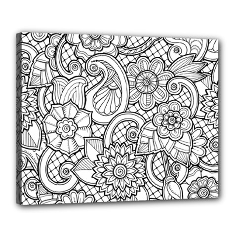 These Flowers Need Colour! Canvas 20  X 16  by Simbadda
