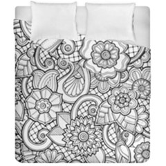 These Flowers Need Colour! Duvet Cover Double Side (california King Size) by Simbadda
