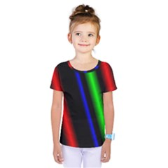 Multi Color Neon Background Kids  One Piece Tee by Simbadda