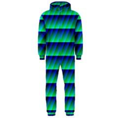Background Texture Structure Color Hooded Jumpsuit (men)