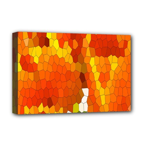 Mosaic Glass Colorful Color Deluxe Canvas 18  X 12   by Simbadda