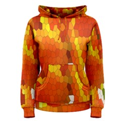 Mosaic Glass Colorful Color Women s Pullover Hoodie by Simbadda
