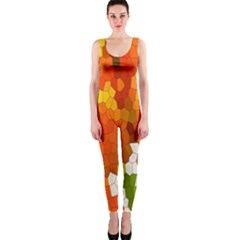 Mosaic Glass Colorful Color Onepiece Catsuit by Simbadda