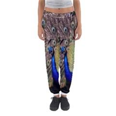 Multi Colored Peacock Women s Jogger Sweatpants by Simbadda