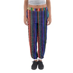 Multi Colored Lines Women s Jogger Sweatpants by Simbadda