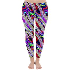 Multi Color Wave Abstract Pattern Classic Winter Leggings