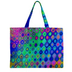 Background Texture Pattern Colorful Zipper Mini Tote Bag by Simbadda