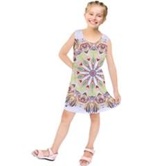 Intricate Flower Star Kids  Tunic Dress by Alisyart
