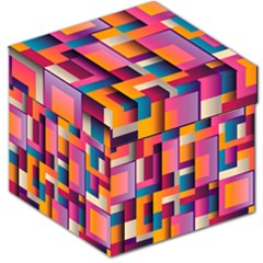 Abstract Background Geometry Blocks Storage Stool 12   by Simbadda