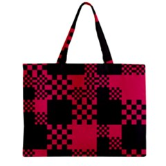 Cube Square Block Shape Creative Zipper Mini Tote Bag by Simbadda