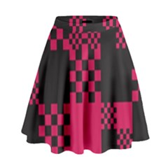 Cube Square Block Shape Creative High Waist Skirt by Simbadda