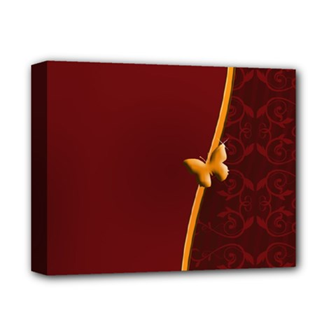 Greeting Card Invitation Red Deluxe Canvas 14  X 11  by Simbadda