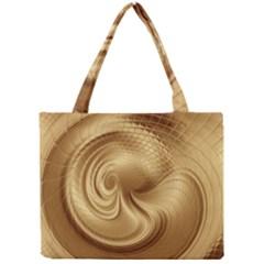 Gold Background Texture Pattern Mini Tote Bag by Simbadda