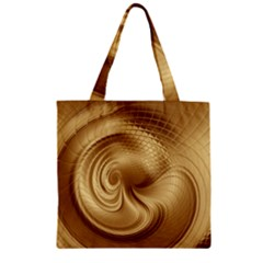 Gold Background Texture Pattern Zipper Grocery Tote Bag by Simbadda