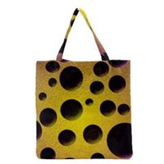 Background Design Random Balls Grocery Tote Bag by Simbadda