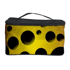 Background Design Random Balls Cosmetic Storage Case by Simbadda