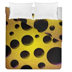 Background Design Random Balls Duvet Cover Double Side (queen Size) by Simbadda