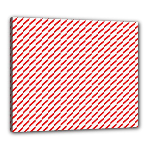 Pattern Red White Background Canvas 24  X 20  by Simbadda