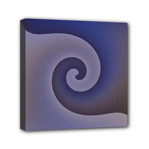 Logo Wave Design Abstract Mini Canvas 6  X 6  by Simbadda