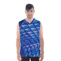 Lines Geometry Architecture Texture Men s Basketball Tank Top by Simbadda