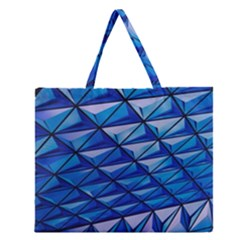 Lines Geometry Architecture Texture Zipper Large Tote Bag by Simbadda